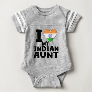 I Heart My Indian Aunt Baby Bodysuit