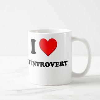 I Heart My Introvert Coffee Mugs