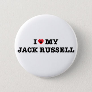 I Heart My Jack Russell Button