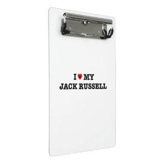 I Heart My Jack Russell Mini Clipboard