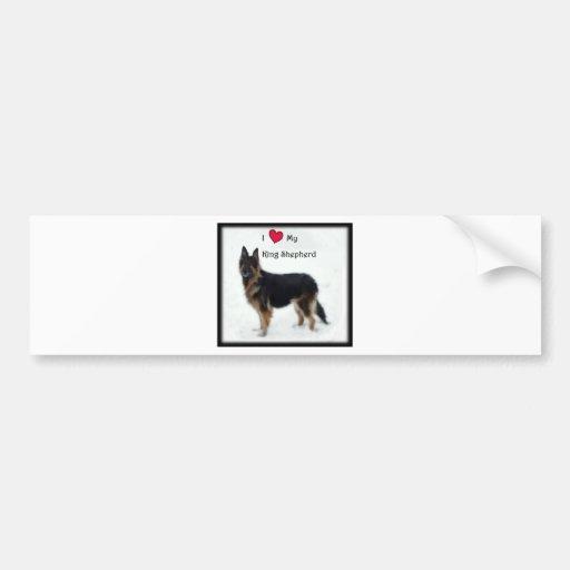 I heart my King Shepherd Bumper Stickers