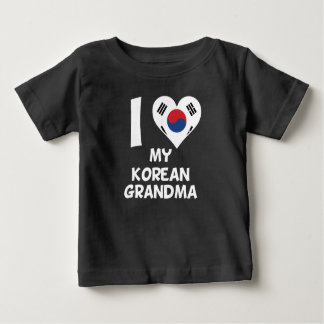 I Heart My Korean Grandma Baby T-Shirt