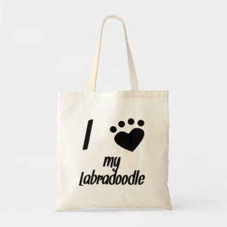 I Heart My Labradoodle Canvas Bags