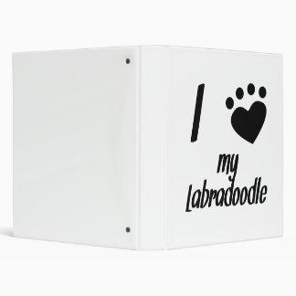 I Heart My Labradoodle Vinyl Binder