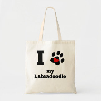 I Heart My Labradoodle Budget Tote Bag