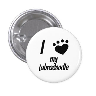 I Heart My Labradoodle Pins