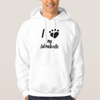 I Heart My Labradoodle Hooded Pullover