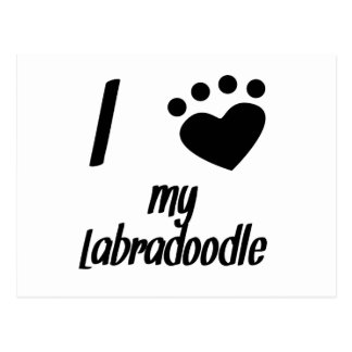 I Heart My Labradoodle Post Cards