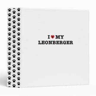 I Heart My Leonberger 3-Ring Binder