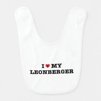 I Heart My Leonberger Bib