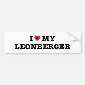 I Heart My Leonberger Bumper Sticker