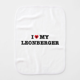 I Heart My Leonberger Burp Cloth