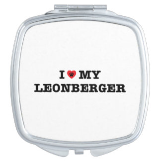 I Heart My Leonberger Compact Mirror