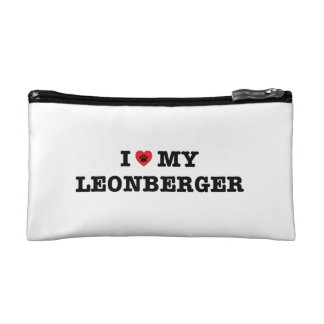 I Heart My Leonberger Cosmetic Bag
