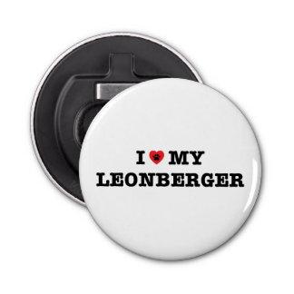 I Heart My Leonberger Fridge Magnet Bottle Opener