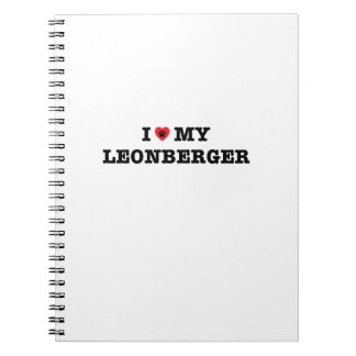 I Heart My Leonberger Spiral Notebook
