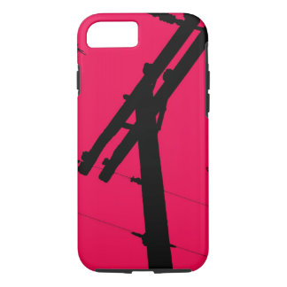 I (Heart) My Lineman iPhone 7 case-Hot Pink iPhone 7 Case