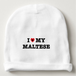 I Heart My Maltese Baby Beanie