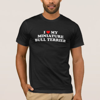 I Heart My Miniature Bull Terrier Dark T-Shirt