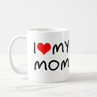I Heart My Mom Classic White Coffee Mug