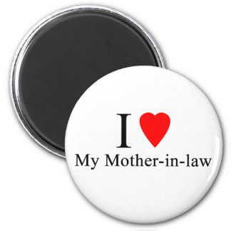 I Heart my mother in law 2 Inch Round Magnet