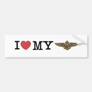 I heart my Naval Aviator Bumper Sticker