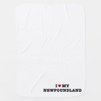 I Heart My Newfoundland Baby Blanket