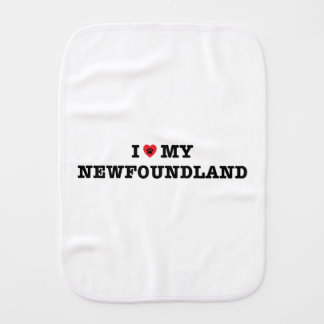 I Heart My Newfoundland Burp Cloth