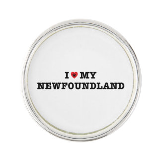 I Heart My Newfoundland Lapel Pin