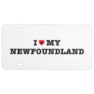 I Heart My Newfoundland License Plate