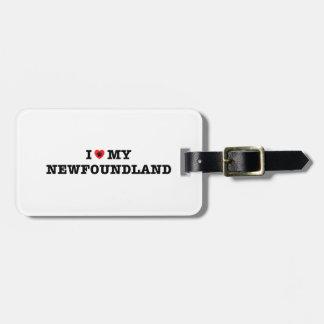 I Heart My Newfoundland Luggage Tag