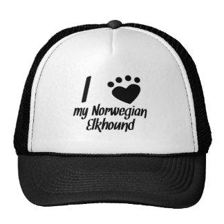I Heart My Norwegian Elkhound Mesh Hats