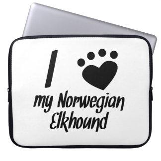 I Heart My Norwegian Elkhound Computer Sleeves