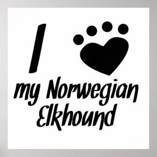 I Heart My Norwegian Elkhound Poster