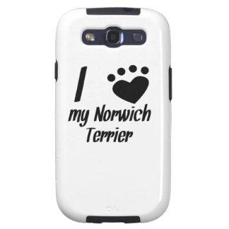 I Heart My Norwich Terrier Samsung Galaxy SIII Cases