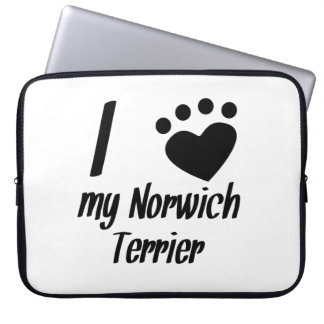 I Heart My Norwich Terrier Computer Sleeves