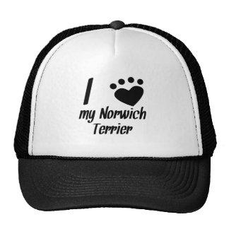 I Heart My Norwich Terrier Mesh Hats