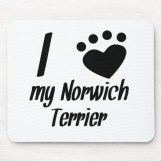 I Heart My Norwich Terrier Mouse Pads