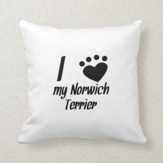 I Heart My Norwich Terrier Pillows