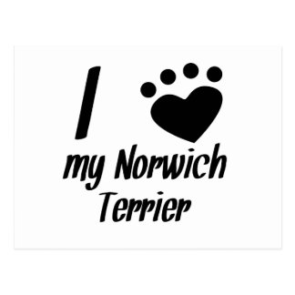 I Heart My Norwich Terrier Postcards