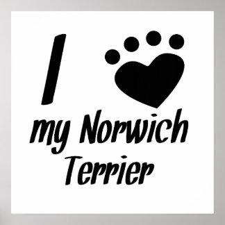I Heart My Norwich Terrier Print