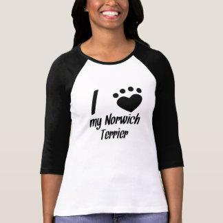 I Heart My Norwich Terrier T Shirts