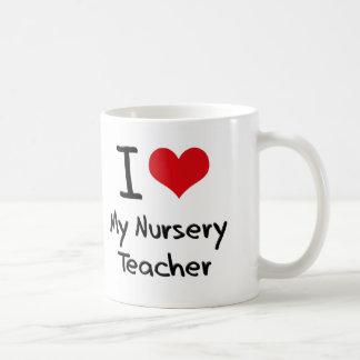I heart My Nursery Teacher Coffee Mug