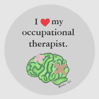 I [heart] my occupational therapist round sticker