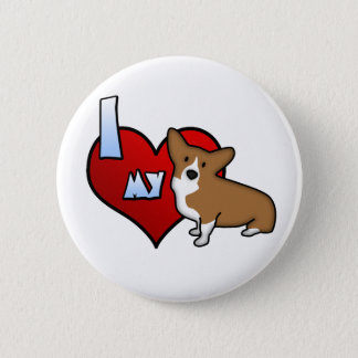 I Heart my Pembroke Welsh Corgi Button