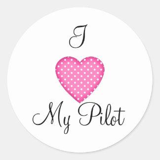 I Heart My Pilot Sticker