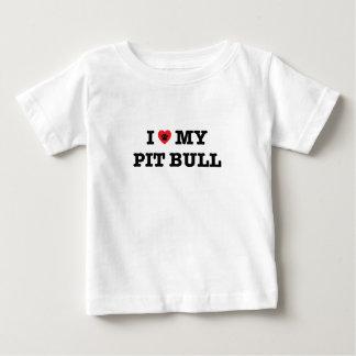 I Heart My Pit Bull Baby T-Shirt