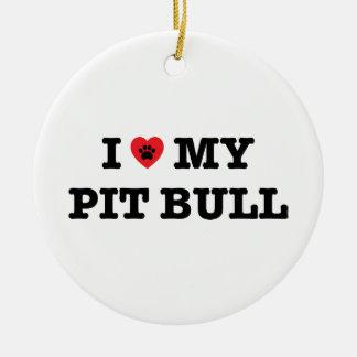 I Heart My Pit Bull Ornament