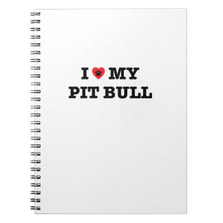 I Heart My Pit Bull Spiral Notebook
