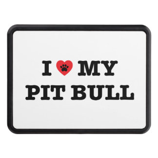 I Heart My Pit Bull Trailer Hitch Cover